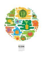 icon healthy fruit vector design