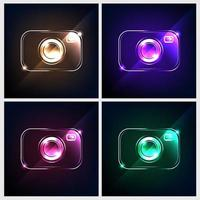 camera icon vector four color