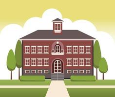 school building vector design