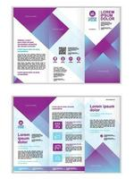 Professional business three fold brochure template vector