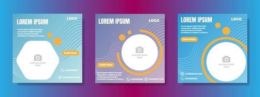 social media post design template. web banner frame vector