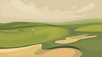 Classic golf course. vector