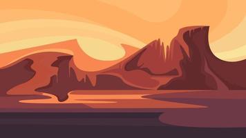 Red martian landscape. vector