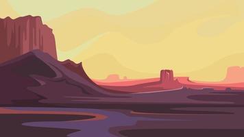 Martian landscape in cartoon style. vector