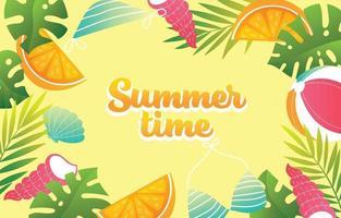 Colorful Summer Season Background vector