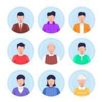 People Avatar Collection Set vector