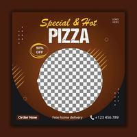 Special pizza social media post template vector