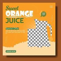 juice drink social media template vector