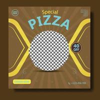 Pizza food social media banner post template vector