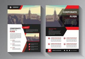 red flyer business template vector