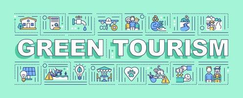Green tourism word concepts banner vector
