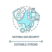 icono de concepto de seguridad de gas natural vector