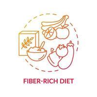 Fiber-rich diet concept icon vector
