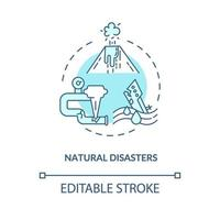 Natural disasters concept icon vector