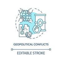 icono de concepto de conflictos geopolíticos vector