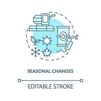 icono de concepto de cambios estacionales vector