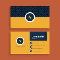 plantilla de tarjeta de visita minimalista limpia vector