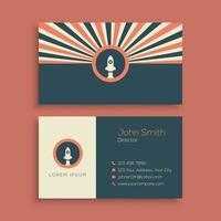 plantilla de tarjeta de visita retro minimalista vector