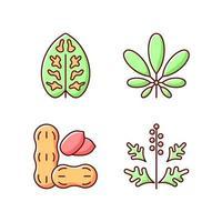 Razón de la alergia conjunto de iconos de colores rgb vector