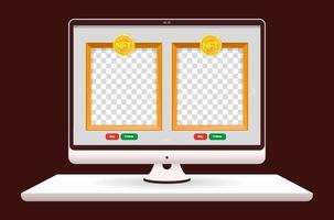 Online art sales market in internet. NFT non fungible tokens. Template for your picture. Vector design