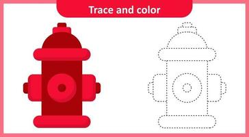 Trace and Color Fire Hydrant vector