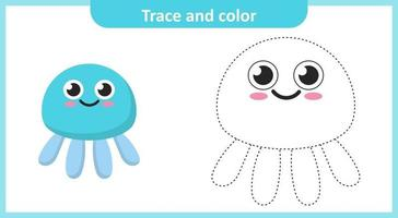 Trace and Color Jellyfish vector