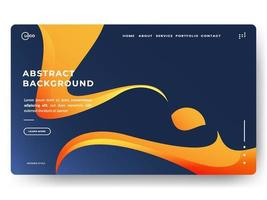 Fondo degradado abstracto de moda para páginas de destino. se puede utilizar para carteles, pancartas, folletos, pancartas, páginas web, encabezados, portadas vector