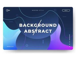 Abstract trendy gradient background for landing pages. Can be used for posters, placards, brochures, banners, web pages, headers, covers vector