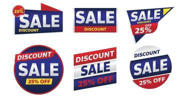 sale banner promotion tag design for marketing vector