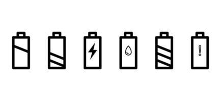 battery icons pack vector