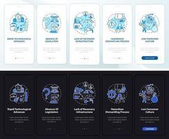e-scrap gestiona problemas al incorporar la pantalla de la página de la aplicación móvil con conceptos vector