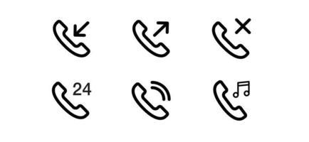 llamar a los iconos de vector de comunicación de teléfono