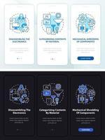 Utilización de e-scrap incorporando la pantalla de la página de la aplicación móvil con conceptos vector
