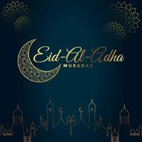 Eid ul adha Mubarak greeting card design vector