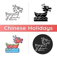 Dragon boat festival icon vector