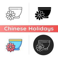 Chrysanthemum tea icon vector