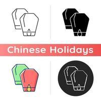 Lantern festival icon vector