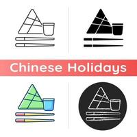 Chinese chopsticks icon vector