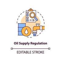 icono de concepto de regulación de suministro de aceite vector