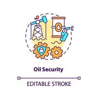 icono del concepto de seguridad petrolera vector