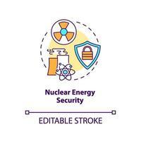 icono del concepto de seguridad de la energía nuclear vector