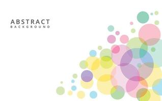 Colorful circles abstract  background, vector design.