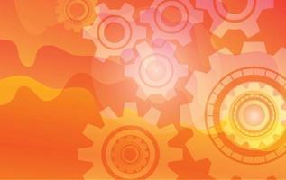 Fondo de engranajes, diseño de tecnología abstracta. vector