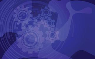 gear background, abstract technolody design. vector