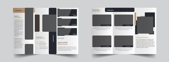 trifold Creative brochure design template vector