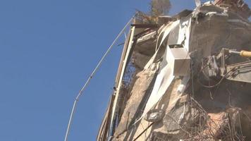 démolition des images de l'ancien bâtiment. video
