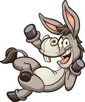 Waving cartoon donkey vector