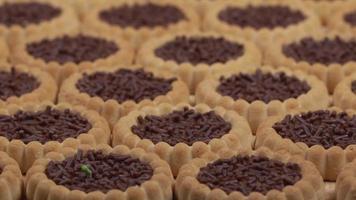 biscoitos de geleia com gotas de chocolate video