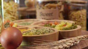 Fresh Vegetarian Italian Raw Uncooked Food Macaroni Pasta video
