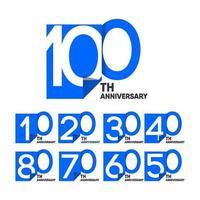 100 th Anniversary Celebration Your Company Vector Template Design Illustration